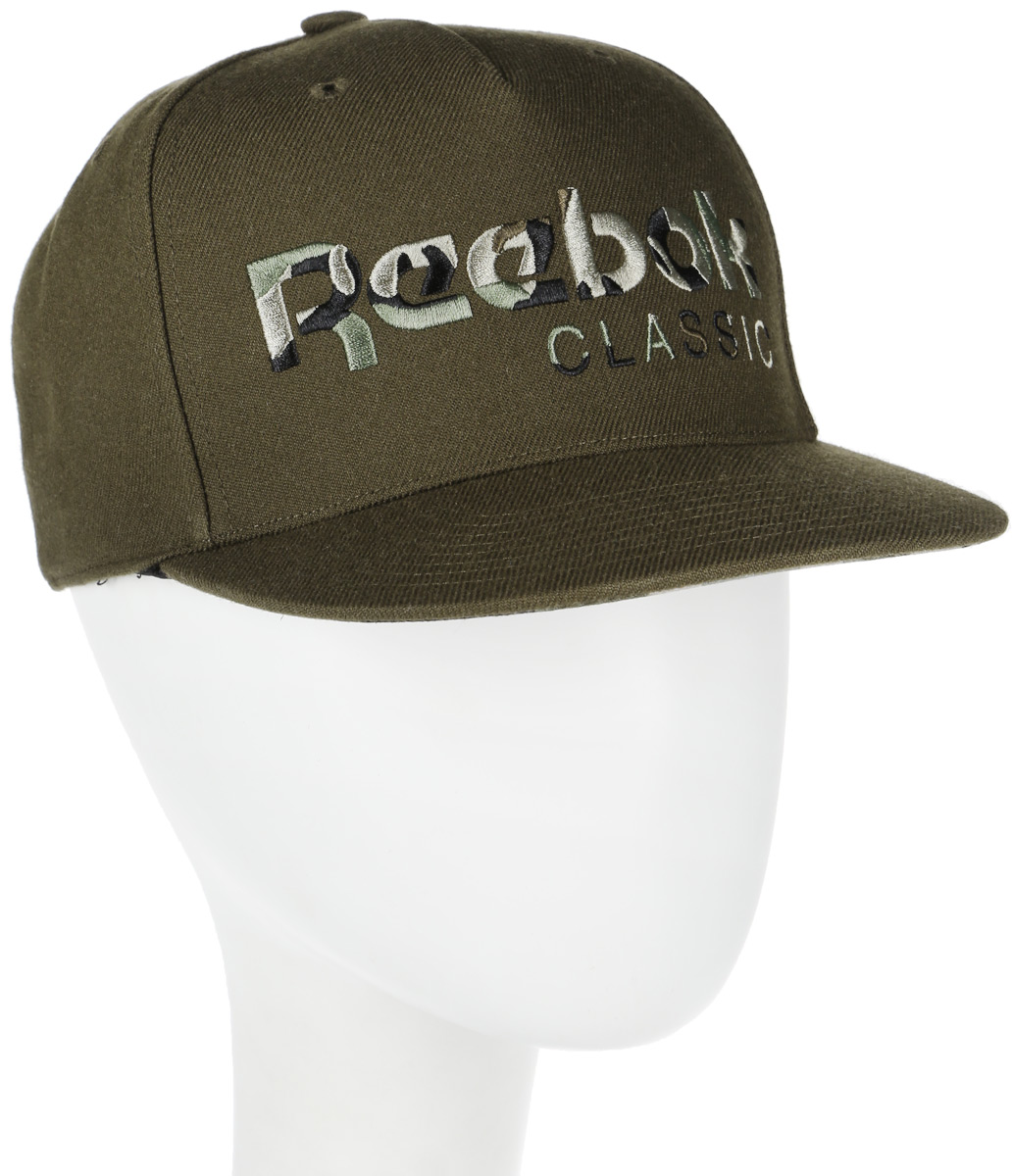 Бейсболка Reebok Cl Camo Cap, цвет: хаки. BJ9157. Размер (58/60) men women coconut palm baseball cap army camo cap baseball casquette camouflage hats for hunting fishing outdoor