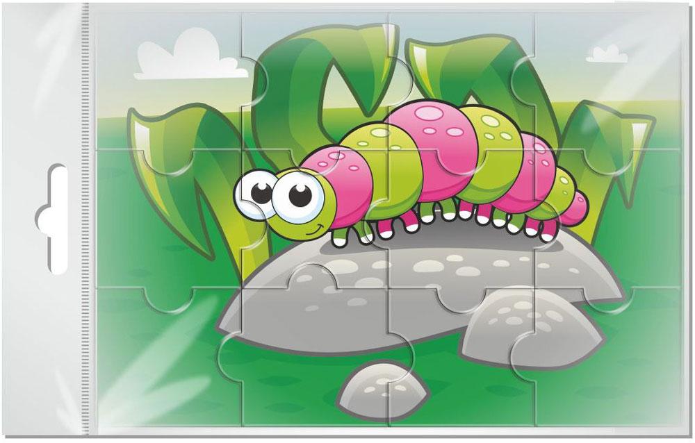 Издательская группа Квадра Пазл для малышей Гусеница издательская группа квадра пазл для малышей осьминог