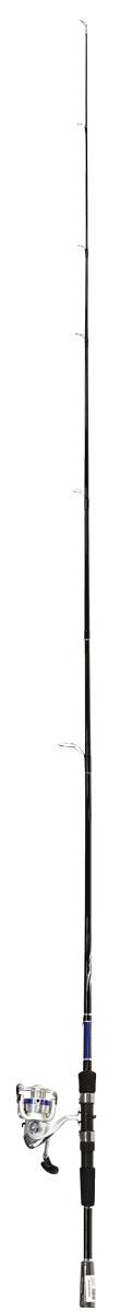 Спиннинг Daiwa Fiberglass, цвет: черный, синий, 2,1 м, 7-21 г, с катушкой D-Shock 2B