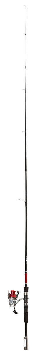 Спиннинг Daiwa Graphite, цвет: черный, красный, 2,1 м, 7-21 г, с катушкой D-Shock 4Bi