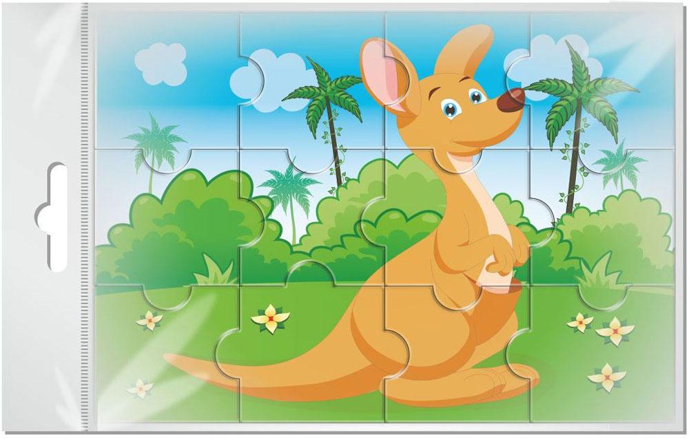 Издательская группа Квадра Пазл для малышей Кенгуру издательская группа квадра пазл для малышей осьминог