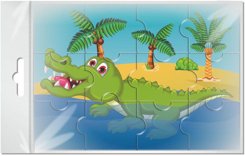 Издательская группа Квадра Пазл для малышей Крокодил издательская группа квадра пазл для малышей осьминог