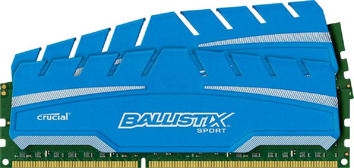 Crucial Ballistix Sport XT DDR3 2x4Gb 1600 МГц комплект модулей оперативной памяти (BLS2C4G3D169DS3J)BLS2C4G3D169DS3JМодули оперативной памяти Crucial Ballistix Sport XT типа DDR3 предоставляют качество работы, надежность и производительность, требуемую для современных компьютеров сегодня. Оснащены теплоотводом, выполненным из чистого алюминия, что ускоряет рассеяние тепла.Общий объем памяти составляет 8 ГБ, что позволит свободно работать со стандартными, офисными и профессиональными ресурсоемкими программами, а также современными требовательными играми. Работа осуществляется при тактовой частоте 1600 МГц и пропускной способности, достигающей до 12800 Мб/с, что гарантирует качественную синхронизацию и быструю передачу данных, а также возможность выполнения множества действий в единицу времени. Параметры тайминга 9-9-9-24 гарантируют быструю работу системы. Имеется поддержка XMP для удобного разгона в автоматическом режиме.