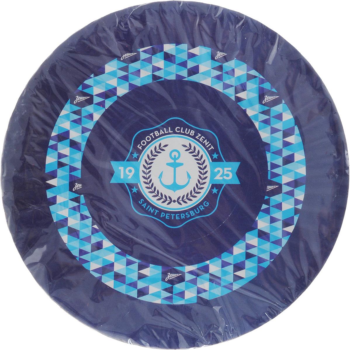 Набор одноразовых десертных тарелок Зенит Вид 2, диаметр 17 см, 6 шт