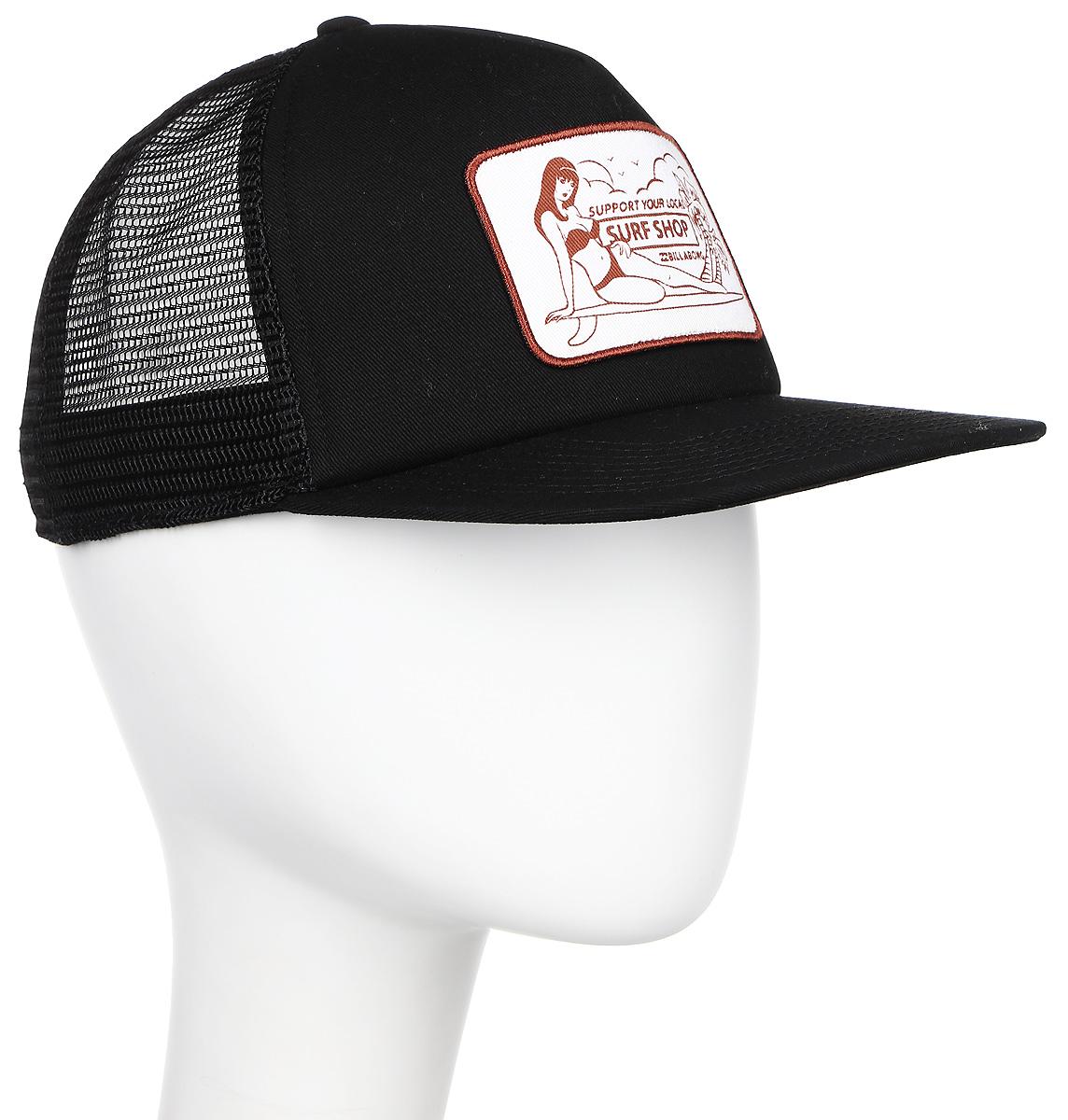Фото Бейсболка Billabong Support Trucker, цвет: черный. 3607869369025. Размер универсальный
