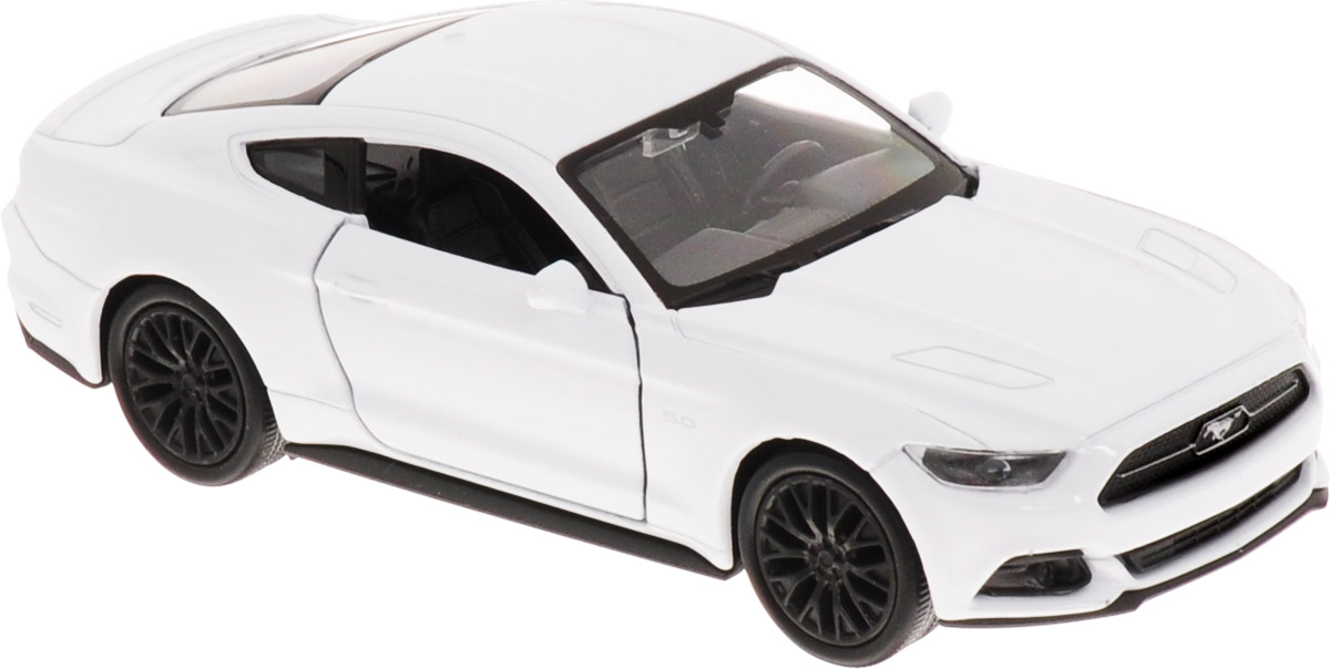 Welly Модель автомобиля Ford Mustang GT 2015 цвет белый welly 24062 велли модель машины 1 24 ford mustang gt