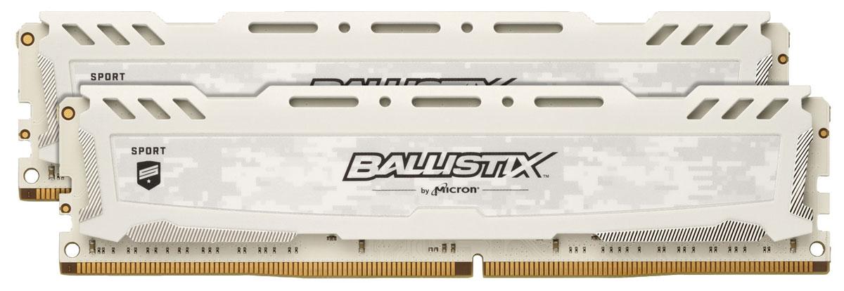Crucial Ballistix Sport LT DDR4 2х8Gb 2400 МГц, White комплект модулей оперативной памяти (BLS2C8G4D240FSC)BLS2C8G4D240FSCКомплект модулей оперативной памяти Crucial Ballistix Sport LT типа DDR4 обеспечивает увеличенную рабочую частоту (по сравнению с предыдущем поколением) при сниженном тепловыделении и экономном энергопотреблении. Благодаря низкому напряжению (1,2 В), снижается потребление энергии, что обеспечивает отсутствие нагрева и бесшумную работу ПК. Теплоотвод выполнен из чистого алюминия, что ускоряет рассеяние тепла.Общий объем памяти в 16 ГБ позволит свободно работать со стандартными, офисными и профессиональными ресурсоемкими программами, а также современными требовательными играми. Работа осуществляется при тактовой частоте 2400 МГц и пропускной способности, достигающей до 19200 Мб/с, что гарантирует качественную синхронизацию и быструю передачу данных, а также возможность выполнения множества действий в единицу времени. Параметры тайминга 16-16-16 гарантируют быструю работу системы. Имеется поддержка XMP 2.0 для удобного разгона в автоматическом режиме.