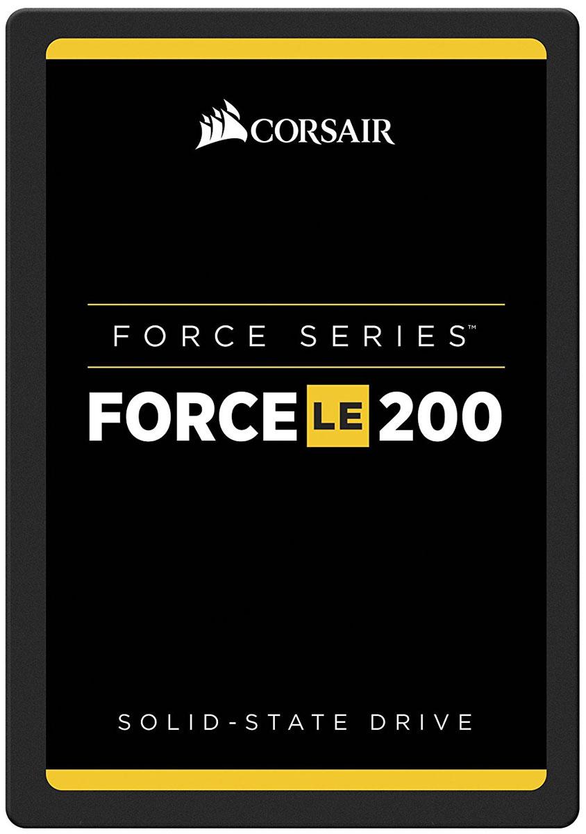 Corsair Force Series LE200 240GB SSD-накопитель (CSSD-F240GBLE200)CSSD-F240GBLE200Твердотельные накопители семейства Force LE200 со встроенной новейшей технологией TLC NAND отличаются большой емкостью для хранения и более высокой скоростью работы по сравнению с жесткими дисками. Замена механического жесткого диска высокоскоростным твердотельным накопителем сегодня более доступна, чем когда-либо. Наслаждайтесь быстрым запуском и выключением системы, а также более высокой скоростью загрузки приложений. В зависимости от потребностей в отношении хранения данных можно выбрать модели различной емкости.Большая емкость накопителей Force Series LE200 удовлетворит ваши ежедневные потребности хранения данных, необходимых для работы, игр, творчества, видеофильмов, музыки, ведения документации и т. д.Твердотельные накопители Force Series LE200 потребляют значительно меньше электроэнергии, чем обычные жесткие диски, повышают эффективность потребления энергии настольными ПК и увеличивают срок службы аккумуляторов переносных компьютеров.Владельцам накопителей Force Series LE200 предоставляется доступ к набору программных средств для твердотельных накопителей Corsair, который является мощным инструментом, позволяющим использовать накопитель максимально эффективно.Ударостойкость: 500G