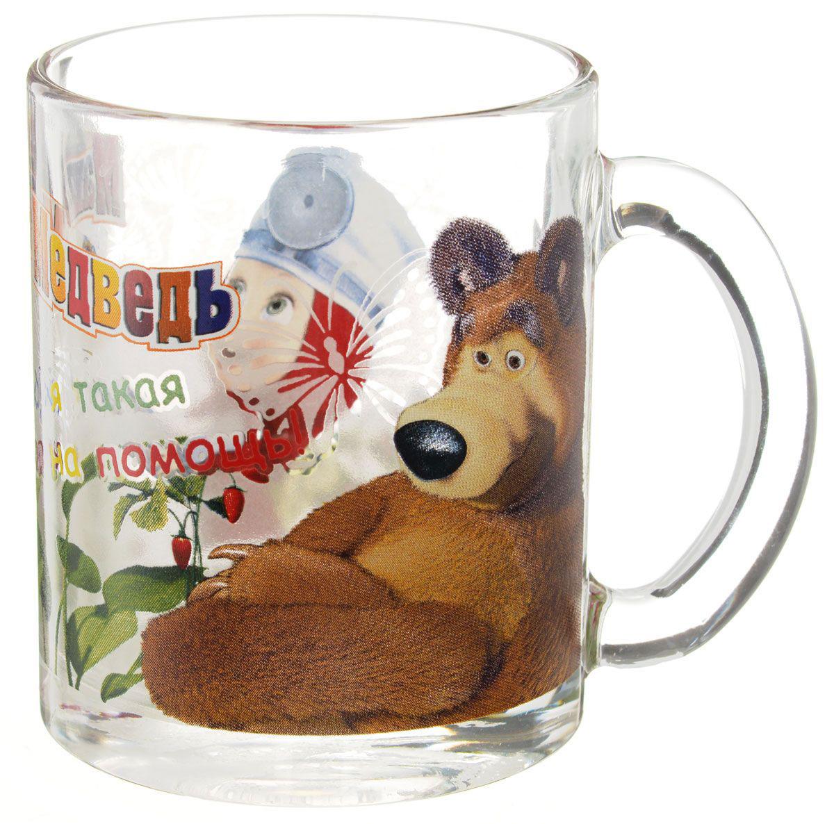 Маша и медведь Кружка детская Маша-доктор 300 мл120810Детская кружка Маша и Медведь Маша-доктор с любимыми героями станет отличным подарком для вашего ребенка. Она выполнена из стекла и оформлена изображением героев мультсериала Маша и Медведь.Кружка дополнена удобной ручкой.Такой подарок станет не только приятным, но и практичным сувениром: кружка будет незаменимым атрибутом чаепития, а оригинальное оформление кружки добавит ярких эмоций и хорошего настроения.Можно мыть в посудомоечной машине.