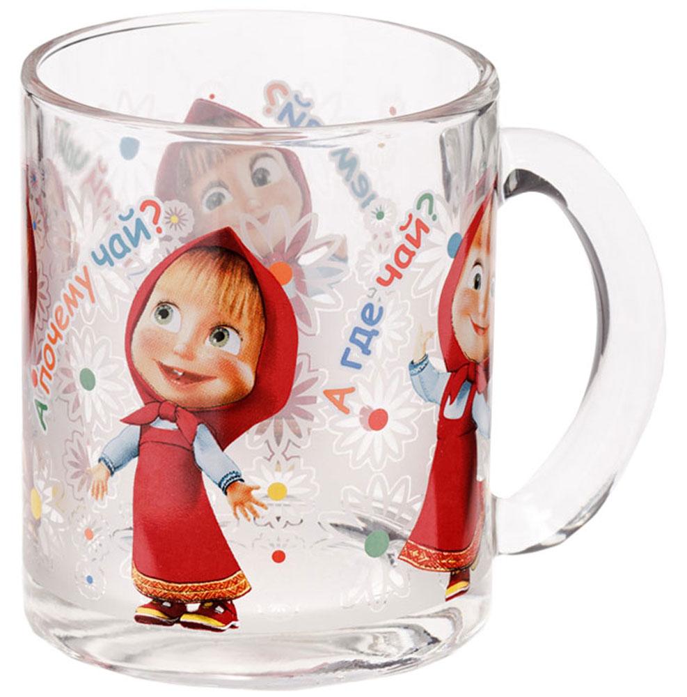 Маша и медведь Кружка детская Танцы 300 млNPR9-1Детская кружка Маша и Медведь Танцы с любимыми героями станет отличным подарком для вашего ребенка. Она выполнена из стекла и оформлена изображением всем известной Маши.Кружка дополнена удобной ручкой.Такой подарок станет не только приятным, но и практичным сувениром: кружка будет незаменимым атрибутом чаепития, а оригинальное оформление кружки добавит ярких эмоций и хорошего настроения.Можно мыть в посудомоечной машине.