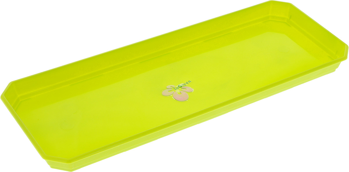 Поддон для балконного ящика InGreen, цвет: салатовый, длина 40 смING1040СЛ_салатовыйПоддон для балконного ящика InGreen выполнен из прочного цветного пластика. Изделие предназначено для стока воды.