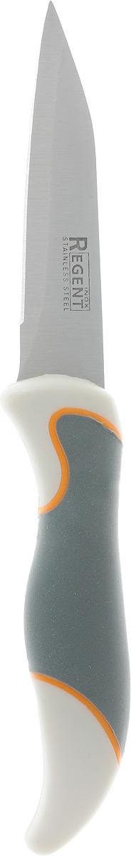 Нож для овощей Regent Inox Torre, длина лезвия 7,5 см93-KN-TO-6Нож для овощей Regent Inox Torre изготовлен из высококачественной нержавеющей стали, которая не подвергается коррозии и выдерживает высокие температуры. Ручка выполнена из прочного полипропилена и имеет эргономичную форму, которая позволяет очень точно контролировать глубину надреза. Нож идеален для нарезки овощей, фруктов, сыра, мяса и рыбы. Изделие предназначено для профессионального и домашнего использования. В нем отлично сбалансированы лезвия и ручка, позволяя резать быстрее и комфортнее. Лезвие ножа не впитывает запахи, оставляя натуральный вкус продуктов.Общая длина ножа: 20 см.