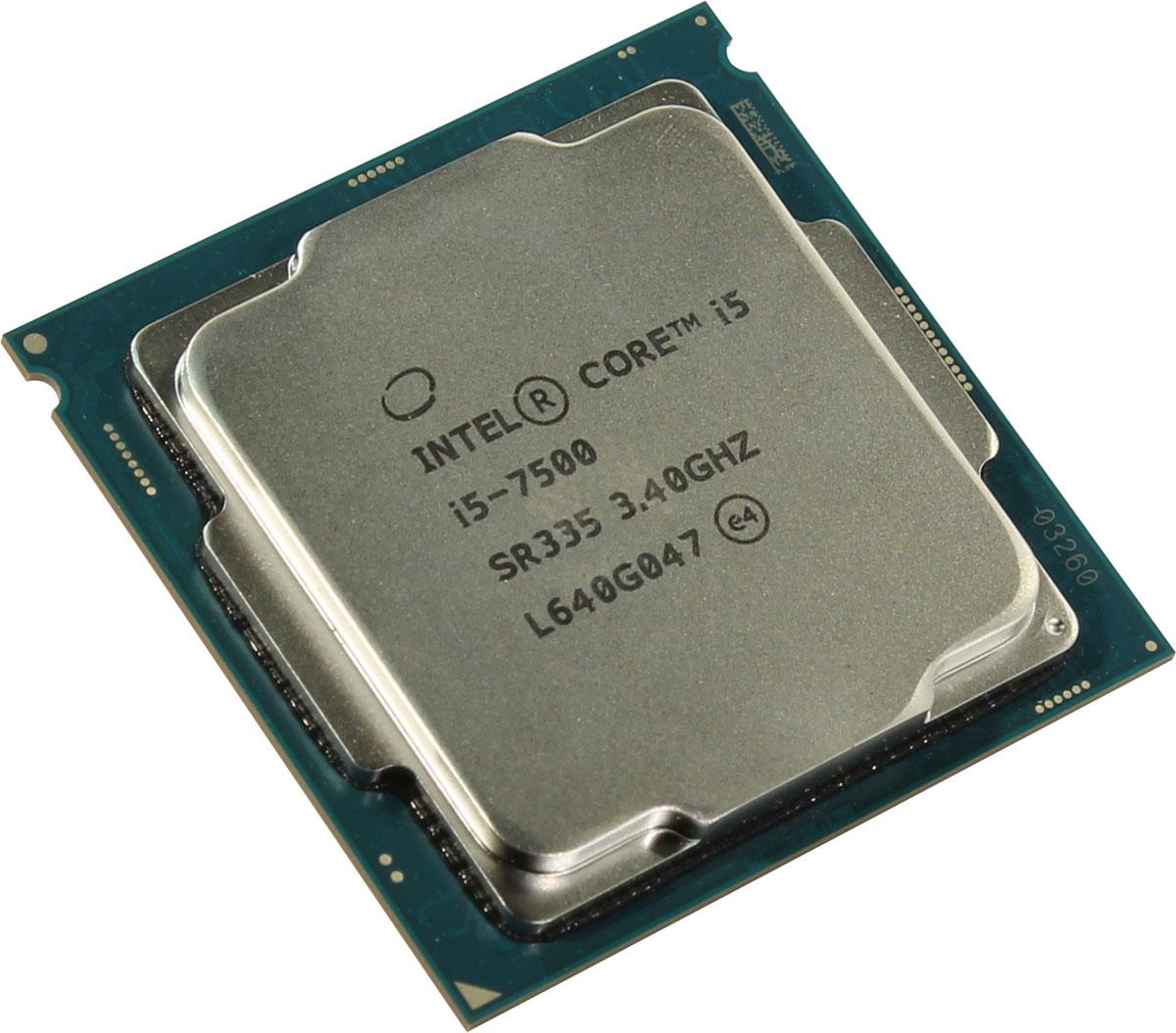 Intel Core i5-7500 процессор процессор для пк intel i5 2450m sr0ch 2 5g 3m pga