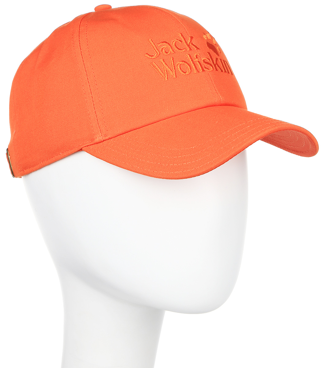 Бейсболка Jack Wolfskin Baseball Cap, цвет: оранжевый. 1900671-3727. Размер 56/61 new brand unisex breathable baseball cap run sport breathable sun hat outdoor leisure fishing man visor 10pcs lots