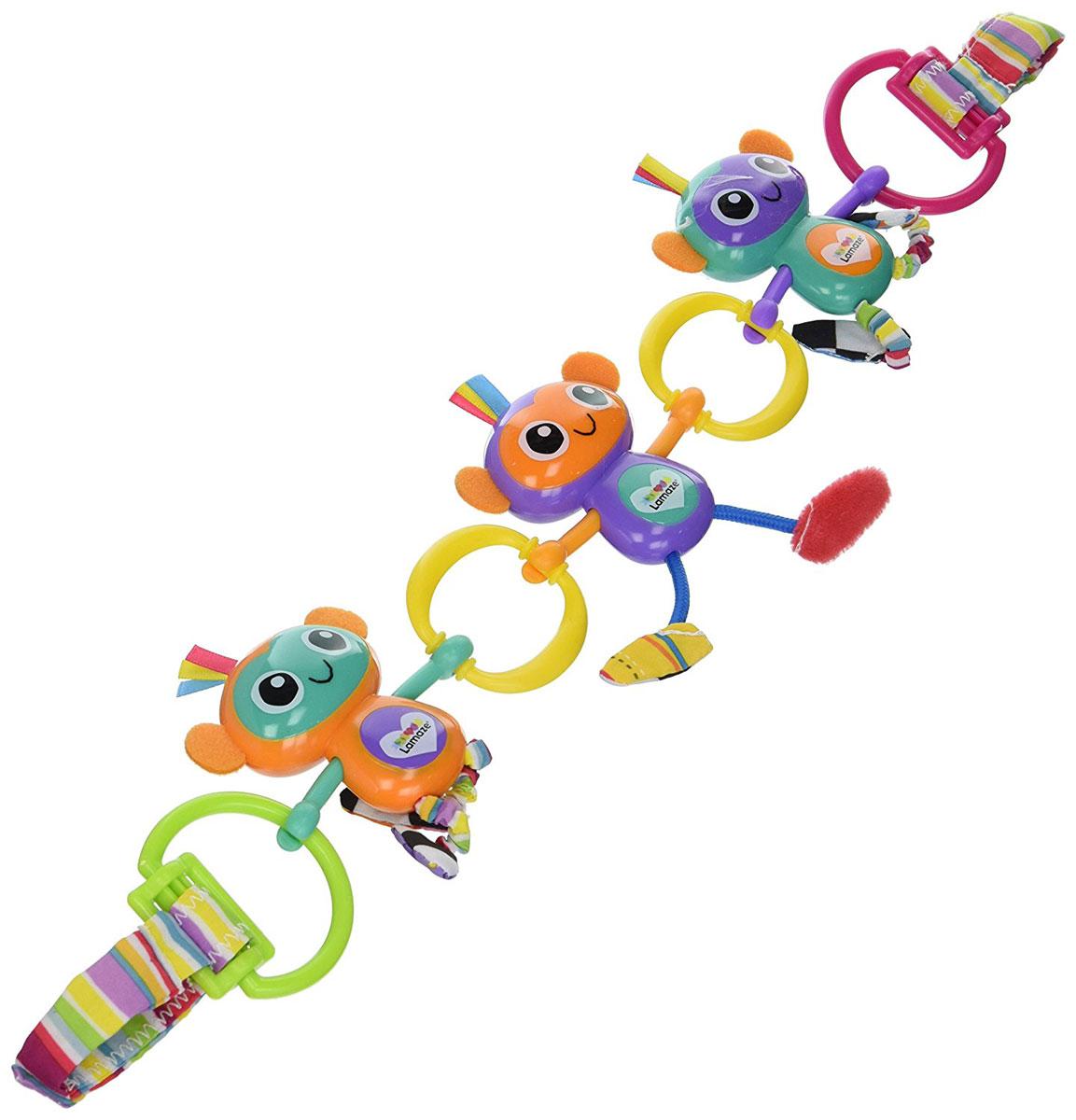 Lamaze Игрушка-подвеска Веселые обезьянки серьги веселые обезьянки