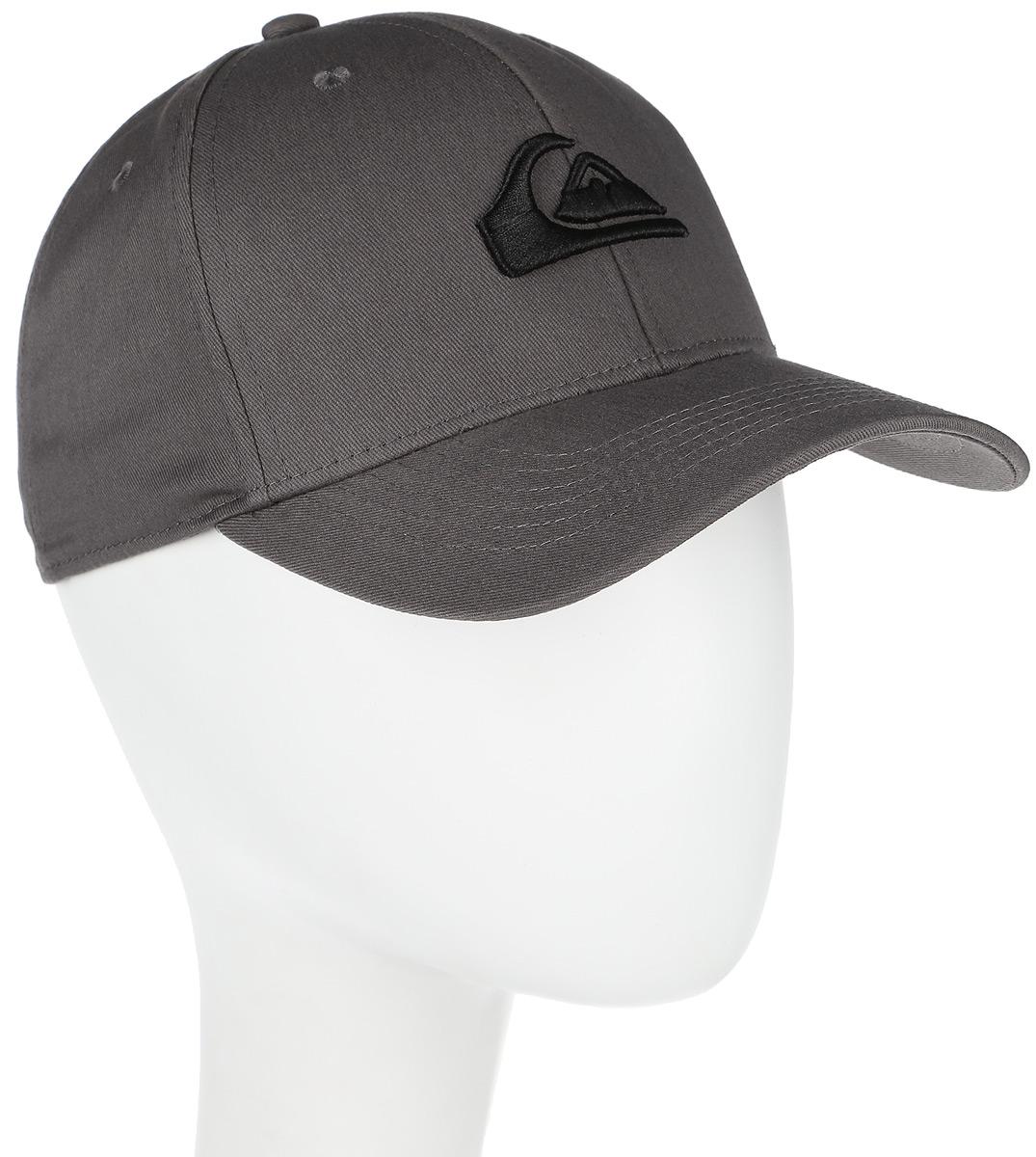 Бейсболка мужская Quiksilver Decades M, цвет: серый. AQYHA03387-KRP0. Размер универсальныйAQYHA03387-KRP0Классическая мужская бейсболка Quiksilver Decades M, изготовленная из полиэстера с добавлением хлопка, идеально подойдет для активного отдыха и обеспечит надежную защиту головы от солнца. Бейсболка имеет перфорацию, обеспечивающую дополнительную вентиляцию. Бейсболка декорирована вышивкой в виде логотипа производителя.Объем изделия регулируется благодаря двумя пластиковым хлястикам с кнопками и перфорацией. Такая бейсболка станет отличным аксессуаром для занятий спортом или дополнит ваш повседневный образ.