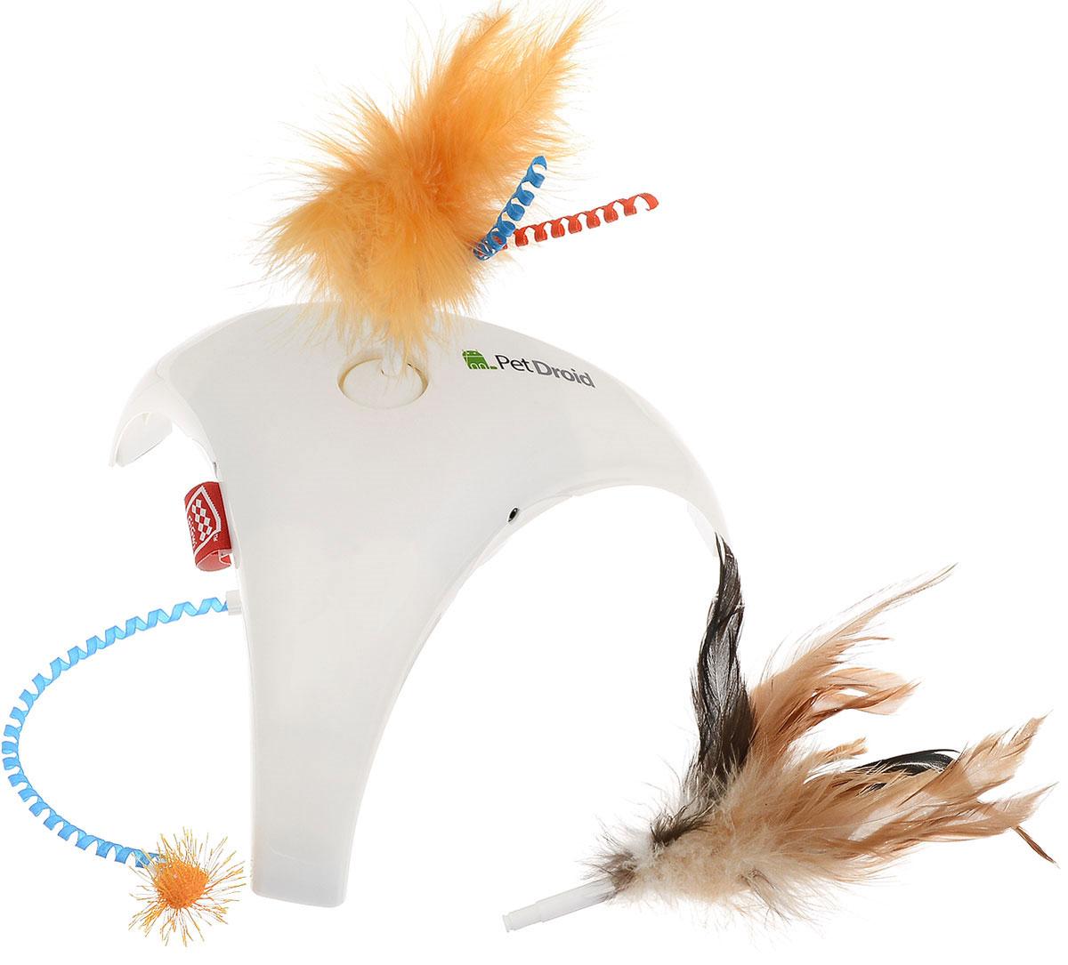 Игрушка для кошек GiGwi Feather Spinner, интерактивная электронная игрушка для кошек gigwi pet droid фезер воблер