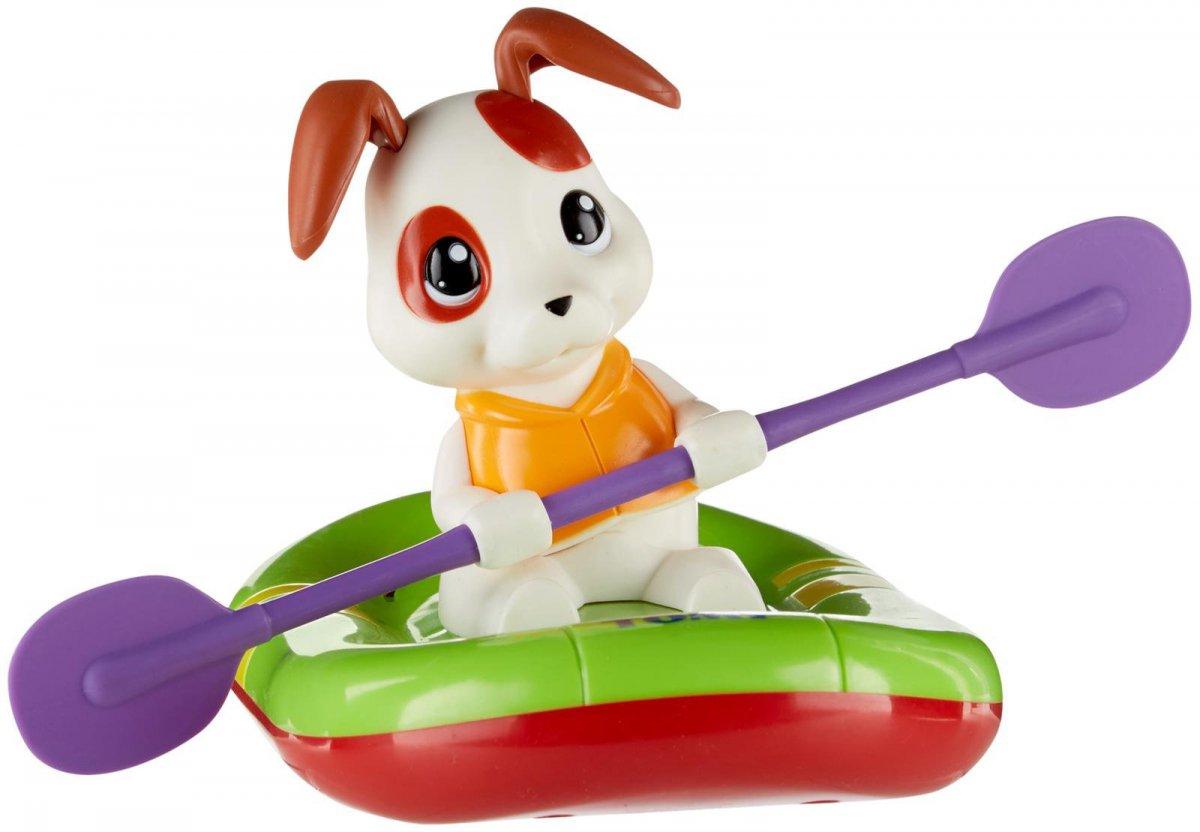 Tomy Игрушка для ванной Щенок на лодке tomy farm приключения трактора джонни и поросенка на ферме