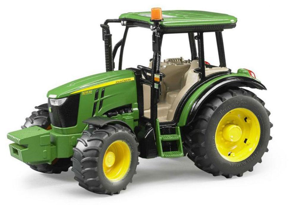 Bruder Трактор John Deere 5115M трактор tomy john deere зеленый 19 см с большими колесами звук свет