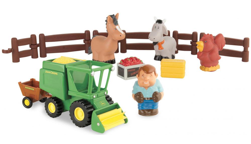 Tomy Игровой набор Уборка урожая игровые наборы tomy britains big farm фермерский прицеп со свинками