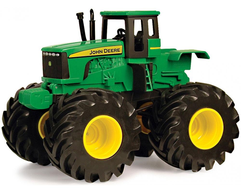 Tomy Трактор John Deere 42932 машинки tomy трактор john deere 6830 с двойными колесами и фронтальным погрузчиком