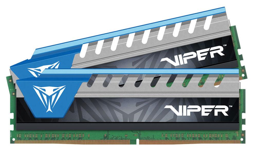 Patriot Viper Elite DDR4 2x8Gb 2666 МГц, Blue комплект модулей оперативной памяти (PVE416G266C6KBL) квадрокоптер 1toy gyro viper т58982