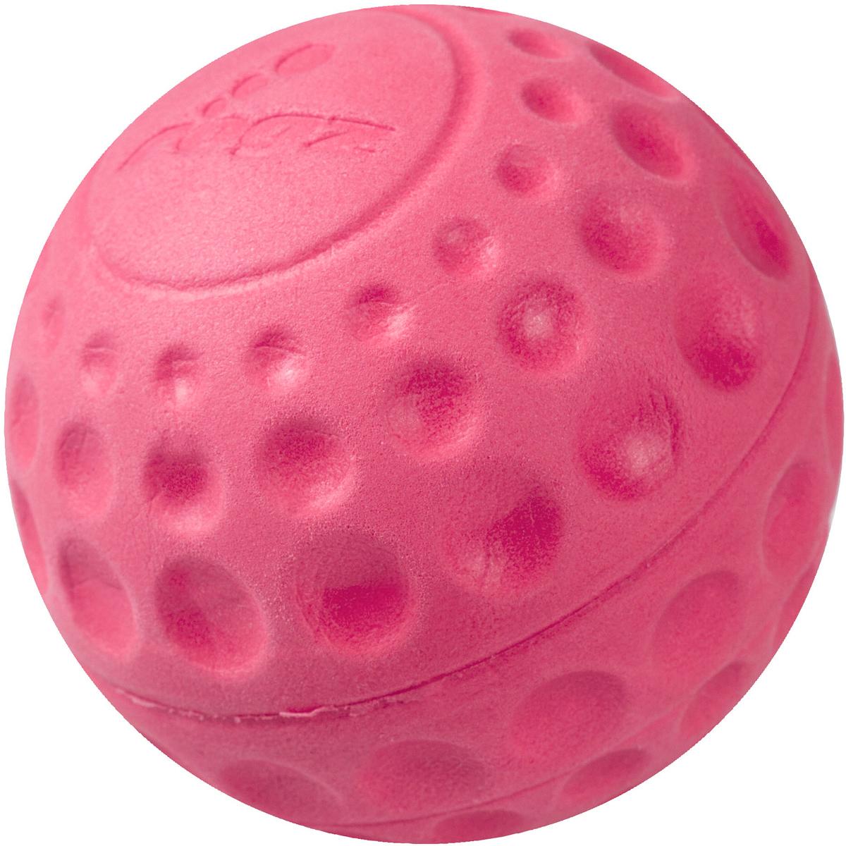 Игрушка для собак Rogz Asteroidz, цвет: розовый, диаметр 7,8 смAS04KМяч для собак Rogz Asteroidz предназначен для игры с хозяином Принеси.Мяч имеет небольшой вес, не травмирует десны, не повреждает зубы, удобно носить в пасти.Отличная упругость для подпрыгивания.Изготовлено из особого термоэластопласта Sebs, обеспечивающего великолепную плавучесть в воде, поэтому игрушка отлично подходит для игры в водоеме. Материал изделия: EVA (этиленвинилацетат) - легкий мелкопористый материал, похожий на застывшую пену.Не токсичен.