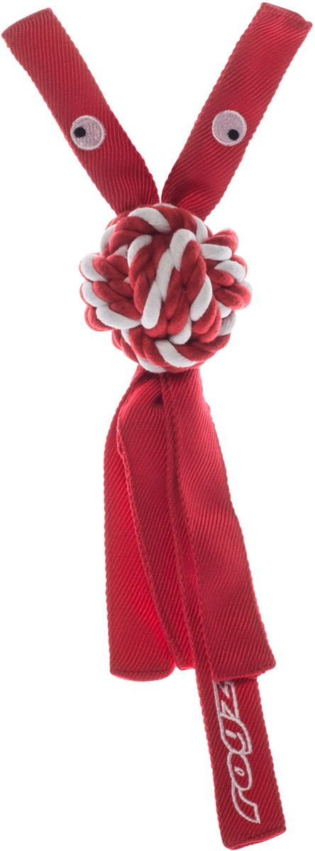Игрушка для собак Rogz CowBoyz, цвет: красный, 6,4 х 31 смKN03CК пищалке, находящейся внутри игрушки Rogz CowBoyz, не останется равнодушной ни одна собака, а прочные и крепкие канаты обеспечат достойную тренировку жевательных мышц!Игрушка типа принеси и А ну-ка отними.Игрушка чистит зубы.