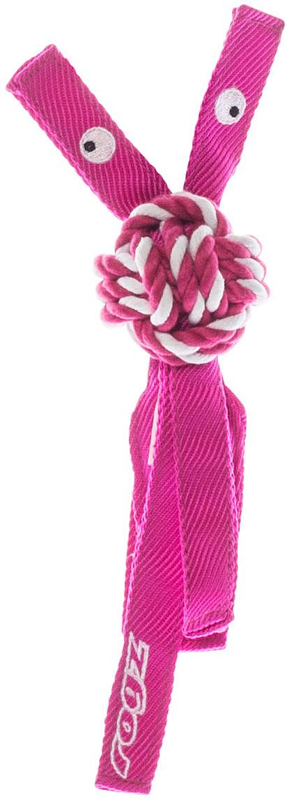 Игрушка для собак Rogz CowBoyz, цвет: розовый, 4,9 х 25 смKN01KК пищалке, находящейся внутри игрушки Rogz CowBoyz, не останется равнодушной ни одна собака, а прочные и крепкие канаты обеспечат достойную тренировку жевательных мышц!Игрушка типа принеси и А ну-ка отними.Игрушка чистит зубы.