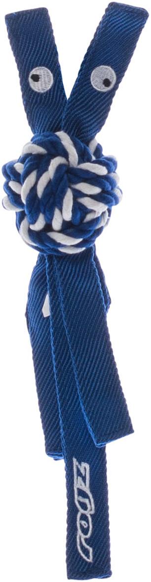 Игрушка для собак Rogz CowBoyz, цвет: синий, 4,9 х 25 смKN01BК пищалке, находящейся внутри игрушки Rogz CowBoyz, не останется равнодушной ни одна собака, а прочные и крепкие канаты обеспечат достойную тренировку жевательных мышц!Игрушка типа принеси и А ну-ка отними.Игрушка чистит зубы.