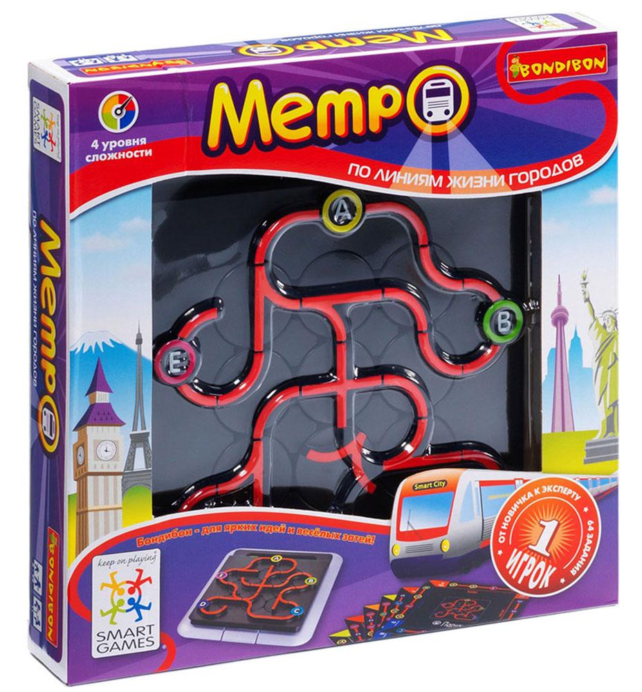 Bondibon Обучающая игра Метро bondibon логическая метро