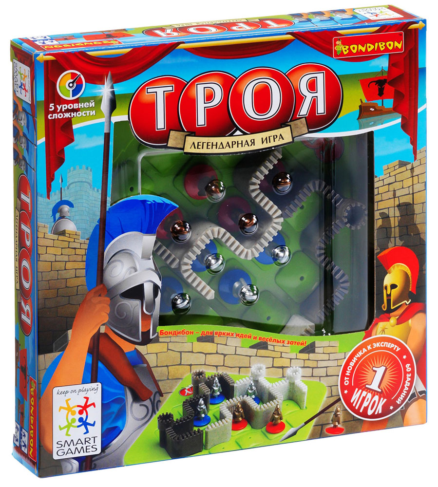 Bondibon Обучающая игра Троя bondibon обучающая игра замок загадок нескучный город