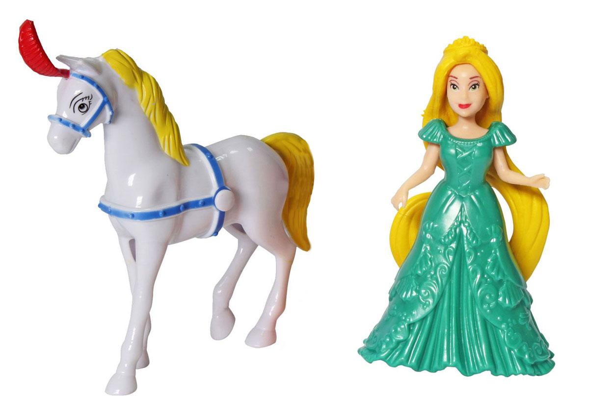 1TOY Игровой набор с мини-куклой Красотка цвет платья зеленый