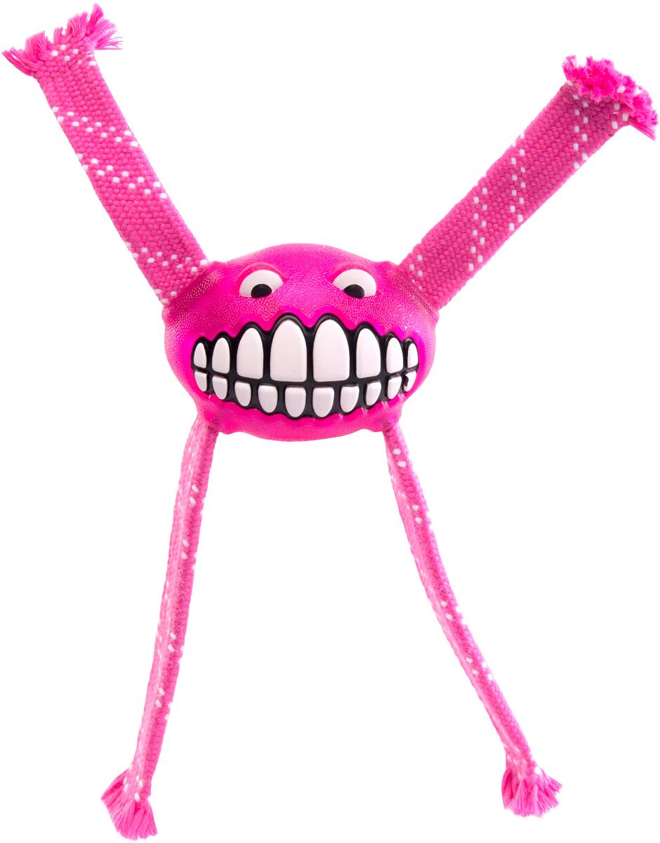 Игрушка для собак Rogz Flossy Grinz. Зубы, цвет: розовый, длина 21 смFGR03KИгрушка для собак Rogz Flossy Grinz. Зубы типа Отними - очень прочная и крепкая.Внутри – пищалка, что поддерживает интерес животного к игре.Уникальная функция игрушки - чистит язык и зубы.