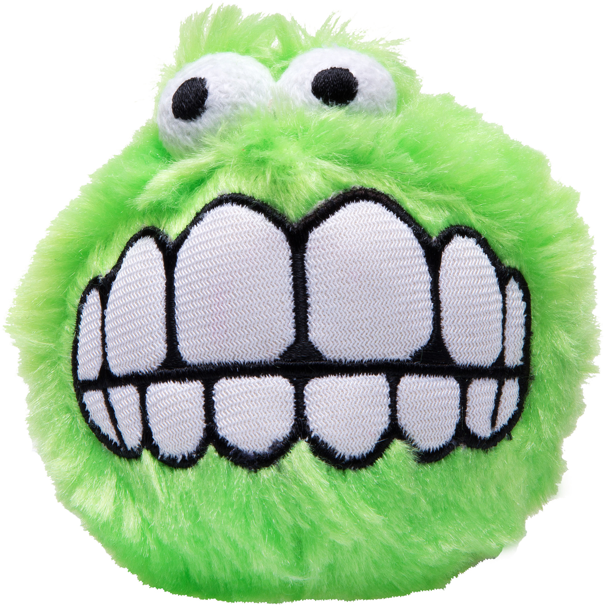 Игрушка для собак Rogz Fluffy Grinz. Зубы, цвет: лайм, диаметр 4,9 смCGR01LИгрушка для собак Rogz Fluffy Grinz. Зубы - особо мягкий, плюшевый мяч. Для животных, которые любят играть в Поймай-принеси - это просто мечта.Небольшой вес изделия.Не травмирует зубы и десны.Удобен для переноски животных.Внутри игрушки пищалка, что поддерживает интерес животного к игре.