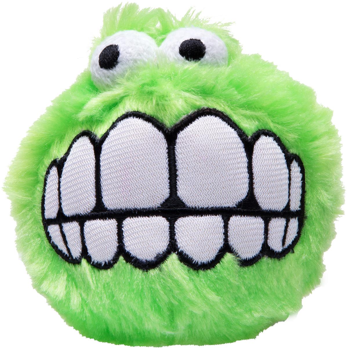 Игрушка для собак Rogz Fluffy Grinz. Зубы, цвет: лайм, диаметр 7,8 см игрушка для собак rogz yumz косточка с отверстием для лакомства цвет лайм длина 11 5 см