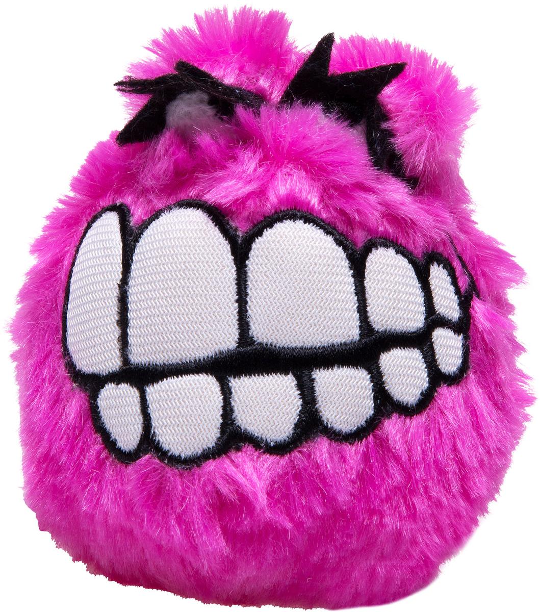 Игрушка для собак Rogz  Fluffy Grinz. Зубы , цвет: розовый, диаметр 6,4 см - Игрушки