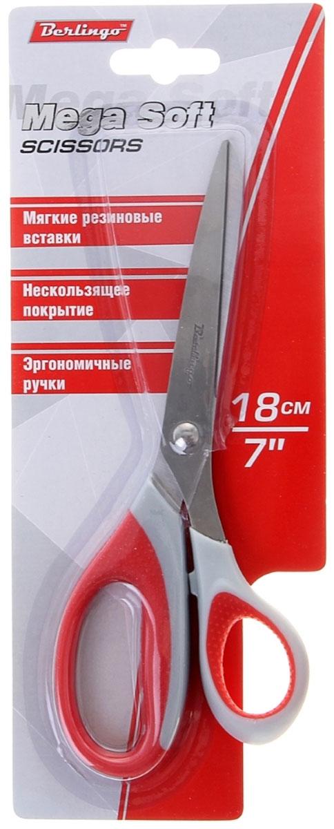 Berlingo Ножницы Mega Soft цвет красный berlingo ножницы universal 18 см