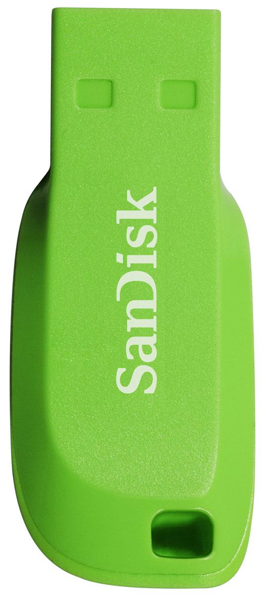 SanDisk Cruzer Blade 64GB, Green USB-накопитель - Носители информации