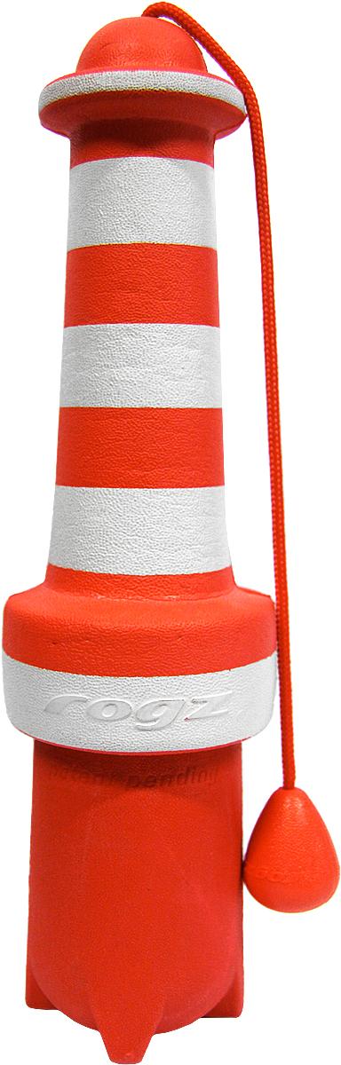Игрушка для собак Rogz  Lighthouse , цвет: красный, белый, длина 25 см