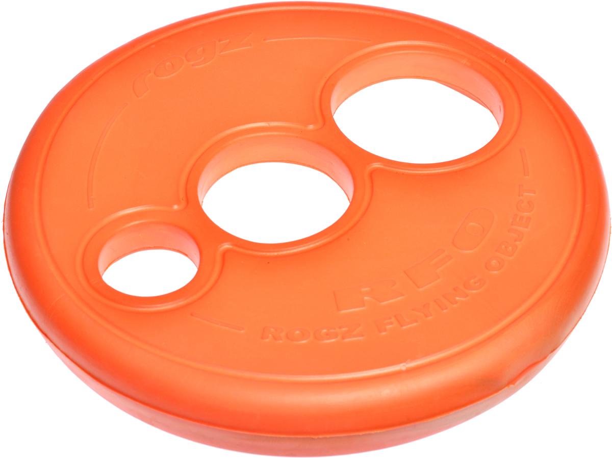 Игрушка для собак Rogz RFO. Тарелка, цвет: оранжевый, диаметр 23 см. RF02RF02DИгрушка для собак Rogz RFO. Тарелка имеет аэродинамичный дизайн со специально подобранным размером отверстий для усиления летательных свойств.Небольшой вес, не травмирует десны, не повреждает зубы.Плотные края и различные размеры отверстий для удобства держания в руке и пасти.Максимальная видимость.Отличная плавучесть.Материал изделия: EVA (этиленвинилацетат) - легкий пористый материал, похожий на застывшую пену.Не токсичен.