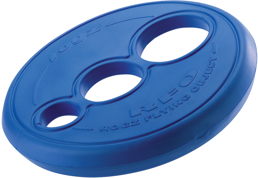 Игрушка для собак Rogz  RFO. Тарелка , цвет: синий, диаметр 23 см