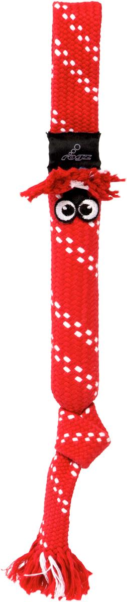 Игрушка для собак Rogz  Scrubz. Сосиска , цвет: красный, длина 31,5 см - Игрушки