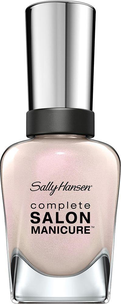 Sally Hansen Salon Manicure Keratin Лак для ногтей тон luna pearl 120 14,7 мл30994236120Комплекс Complete Salon Manicure сочетает семь эффектов в одном флаконе, плюс кисточку для безукоризненного покрытия, легкого нанесения и салонных результатов. Эта формула всё-в-одном обеспечивает до 10 дней устойчивого к сколам покрытия и включает основу, средство для роста, вдохновленный подиумом цвет, топ, финишное покрытие с гелевым сиянием, устойчивость к сколам и укрепляющее средство с кератиновым комплексом, делающим ногти до 64% сильнее. Это всё, что вам нужно, чтобы достичь профессиональных результатов при окрашивании ногтей на дому!
