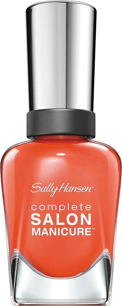 Sally Hansen Salon Manicure Keratin Лак для ногтей тон firey island 545 14,7 мл30994236545Комплекс Complete Salon Manicure сочетает семь эффектов в одном флаконе, плюс кисточку для безукоризненного покрытия, легкого нанесения и салонных результатов. Эта формула всё-в-одном обеспечивает до 10 дней устойчивого к сколам покрытия и включает основу, средство для роста, вдохновленный подиумом цвет, топ, финишное покрытие с гелевым сиянием, устойчивость к сколам и укрепляющее средство с кератиновым комплексом, делающим ногти до 64% сильнее. Это всё, что вам нужно, чтобы достичь профессиональных результатов при окрашивании ногтей на дому!