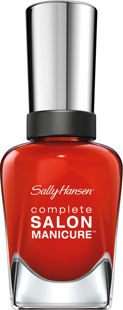 Sally Hansen Salon Manicure Keratin Лак для ногтей тон new flame 554 14,7 мл30994236554Комплекс Complete Salon Manicure сочетает семь эффектов в одном флаконе, плюс кисточку для безукоризненного покрытия, легкого нанесения и салонных результатов. Эта формула всё-в-одном обеспечивает до 10 дней устойчивого к сколам покрытия и включает основу, средство для роста, вдохновленный подиумом цвет, топ, финишное покрытие с гелевым сиянием, устойчивость к сколам и укрепляющее средство с кератиновым комплексом, делающим ногти до 64% сильнее. Это всё, что вам нужно, чтобы достичь профессиональных результатов при окрашивании ногтей на дому!