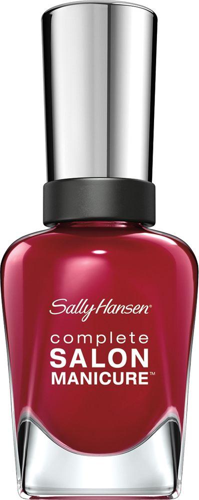 Sally Hansen Salon Manicure Keratin Лак для ногтей тон red-handed 57 14,7 мл30994236575Комплекс Complete Salon Manicure сочетает семь эффектов в одном флаконе, плюс кисточку для безукоризненного покрытия, легкого нанесения и салонных результатов. Эта формула всё-в-одном обеспечивает до 10 дней устойчивого к сколам покрытия и включает основу, средство для роста, вдохновленный подиумом цвет, топ, финишное покрытие с гелевым сиянием, устойчивость к сколам и укрепляющее средство с кератиновым комплексом, делающим ногти до 64% сильнее. Это всё, что вам нужно, чтобы достичь профессиональных результатов при окрашивании ногтей на дому!