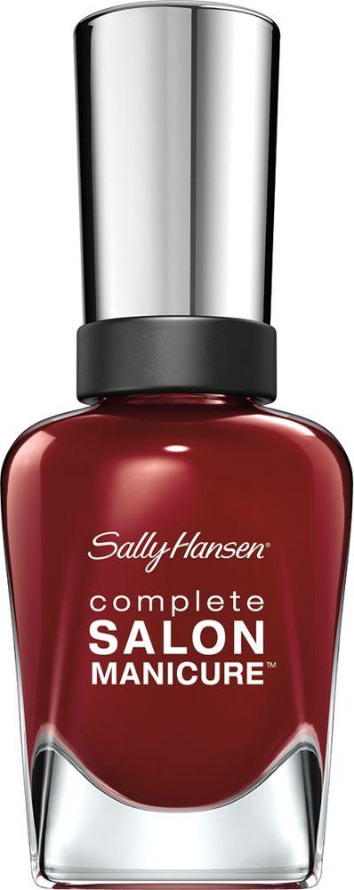 Sally Hansen Salon Manicure Keratin Лак для ногтей тон red zin #610 14,7 мл30994236610Комплекс Complete Salon Manicure сочетает семь эффектов в одном флаконе, плюс кисточку для безукоризненного покрытия, легкого нанесения и салонных результатов. Эта формула всё-в-одном обеспечивает до 10 дней устойчивого к сколам покрытия и включает основу, средство для роста, вдохновленный подиумом цвет, топ, финишное покрытие с гелевым сиянием, устойчивость к сколам и укрепляющее средство с кератиновым комплексом, делающим ногти до 64% сильнее. Это всё, что вам нужно, чтобы достичь профессиональных результатов при окрашивании ногтей на дому!