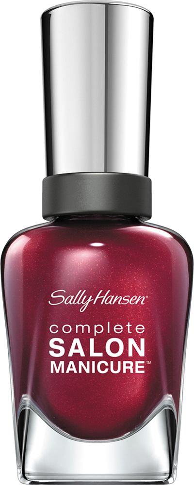 Sally Hansen Salon Manicure Keratin Лак для ногтей тон wine not 620 14,7 мл30994236620Комплекс Complete Salon Manicure сочетает семь эффектов в одном флаконе, плюс кисточку для безукоризненного покрытия, легкого нанесения и салонных результатов. Эта формула всё-в-одном обеспечивает до 10 дней устойчивого к сколам покрытия и включает основу, средство для роста, вдохновленный подиумом цвет, топ, финишное покрытие с гелевым сиянием, устойчивость к сколам и укрепляющее средство с кератиновым комплексом, делающим ногти до 64% сильнее. Это всё, что вам нужно, чтобы достичь профессиональных результатов при окрашивании ногтей на дому!