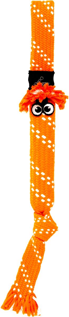 Игрушка для собак Rogz  Scrubz. Сосиска , цвет: оранжевый, длина 31,5 см - Игрушки